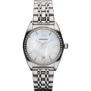 Emporio Armani AR0379 - Orologio da polso donna, acciaio inox, colore: argento