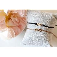Armband Infinity rosegold farben Makramee Freundschaftsarmband Unendlichkeitszeichen Bracelet Armband Damen Macrame verschiedene Farben