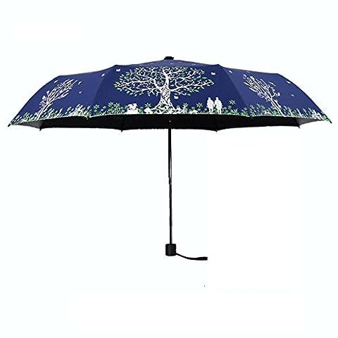 Une paire Arbre d'amour Parapluie de soleil Littérature et art