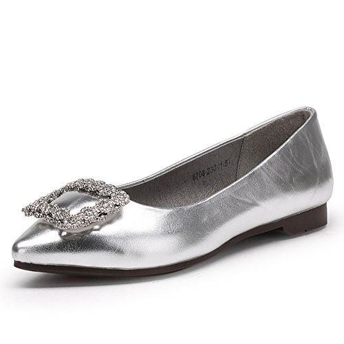 orteils pointus chaussures/Automne fond plat chaussures/Chaussures femmes mariage plat/Chaussures de mariée B