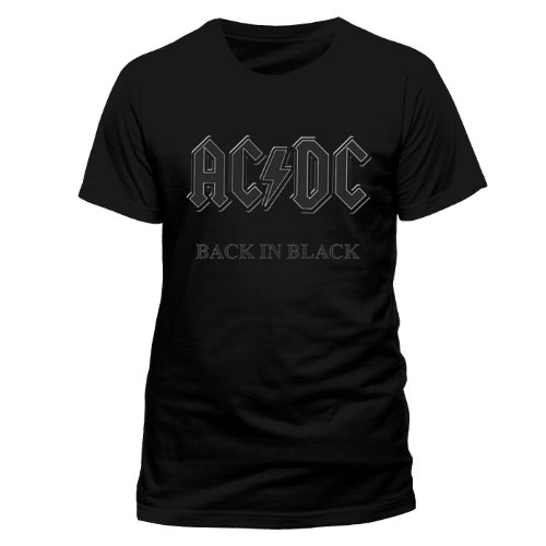 Official Merchandise Band T-Shirt - AC/DC - Back in Black, Schwarz (Black), XXL