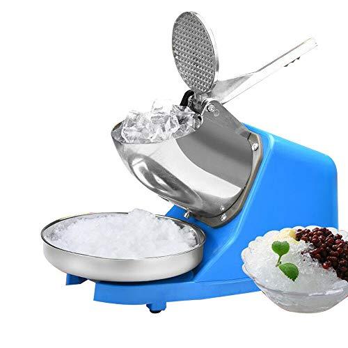 MOMOJA Eiscrusher Maschine Elektro Ice Crusher Metall Eiszerkleinerer Barzubehör (Blau)
