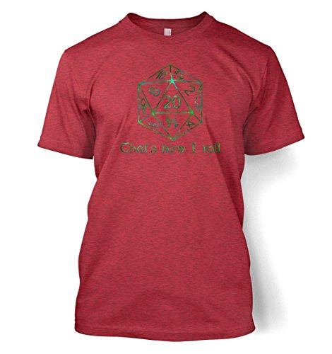 That's How I Roll Herren t-shirt (Small (34/36)/Heather Cardinal) Rot (S/s Erwachsene Cardinal T-shirt)
