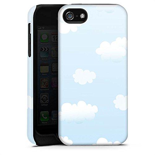 Apple iPhone X Silikon Hülle Case Schutzhülle Wolken Himmel Wolkenmuster Tough Case matt