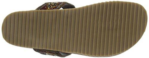 Salamander Ramona, Tongs femme Multicolore - Mehrfarbig (brown multi 04)