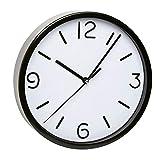 TFA-Dostmann Analoge Wanduhr TFA 60.3033 mit geräuscharmem Uhrwerk (Schwarz)