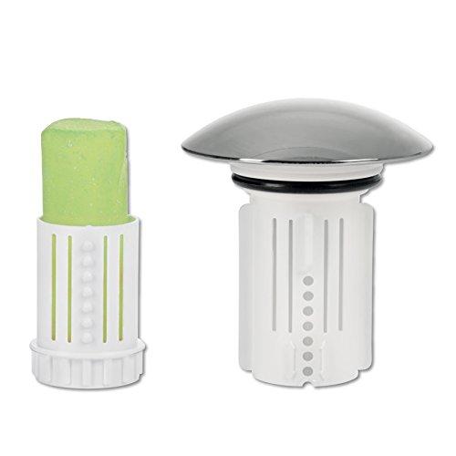Abfluss-Fee Verschlussstopfen und Duftstein (Verschlussstopfen weiß + 9 Duftsteine)
