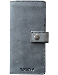 ABYS Genuine Leather Id Case||Card Case||Long Wallet||Card Holder With Mobile Slot