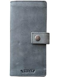 ABYS Genuine Leather Credit Card Holder||Card Case||Long Wallet||Card Holder With Mobile Slot