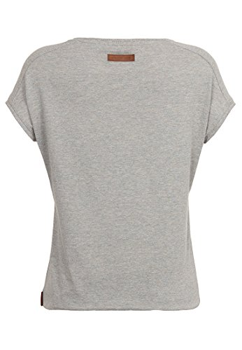 Naketano Female Shortsleeve Rose von Jericho Gun Smoke Grey Melange