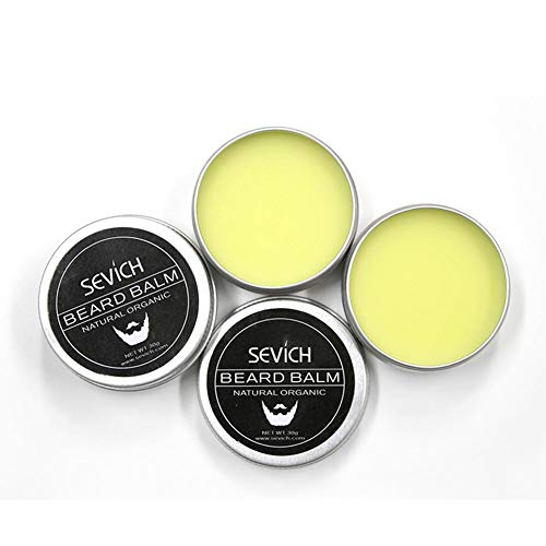 Sevich Aceite de barba Cera de barba Flexible Lubricacion Crema de bar