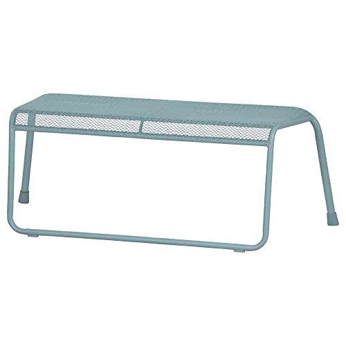 MWH Solo 2 Sitzer Bank, Stahl, Streckmetall, blau