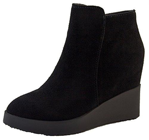 Footwear Studio Femmes Betsy Véritable Fermeture à Glissière en Suède Fermeture Éclair Caché Cheville Bottines