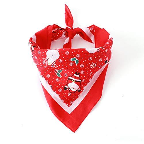 Pañuelo cuadrado perro diseño triángulo Navidad