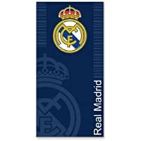 Secaneta Serviettes de plage jacquard Motif Real Madrid 75 X 150 bleu