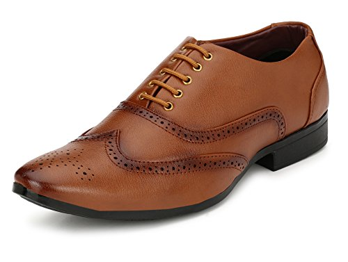 Fucasso Men's Synthetic Tan Formal Brogue Shoes - 7 UK