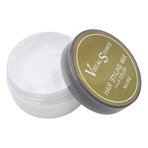 Ruier-Hui Unisex Waschbar Temporäre Bunt Haarfärbemittel Wachs Haar Modellierung Farbe Schlamm DIY Haar Creme (Grau)