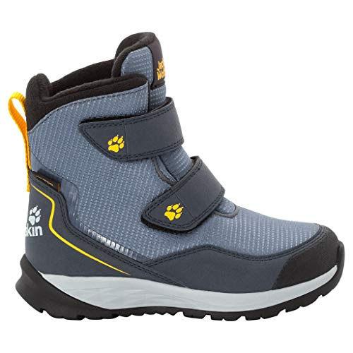 Jack Wolfskin Unisex-Kinder Polar Bear Texapore High Vc K Schneestiefel , Grau (Pebble Grey/ Burly Yellow Xt 6510) , 39 EU
