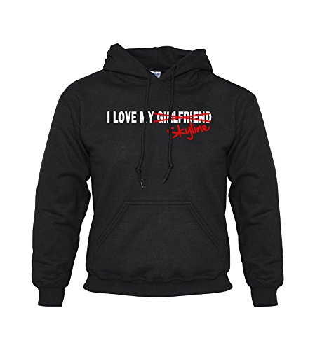I LOVE MY GIRLFRIEND X SKYLINE, Car Hoodie (black) for sale  Delivered anywhere in UK