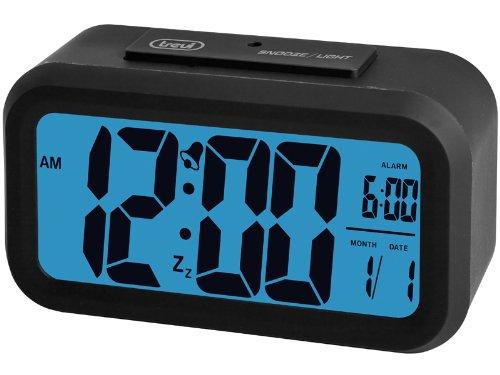 Trevi SLD 3068 Sveglia digitale, 12/24 ore, ampio display LCD, nero