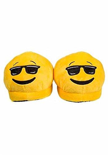 Emoji-Hausschuhe - Cool Gelb