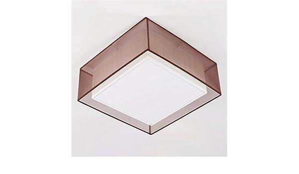 Plafoniera Tessuto Quadrata : Lilsn cina e semplice tessuto plafoniera quadrata sombra de color