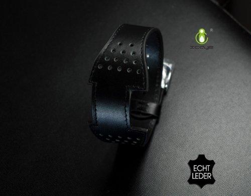 icayz Bracciali in pelle Apple iPod Nano 66G con custodia: Black