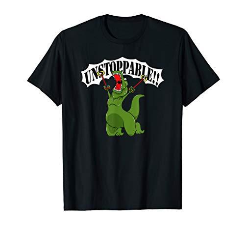 T-rex t-shirt I Am Unstoppable Tea Rex Dinosaur t-shirt -