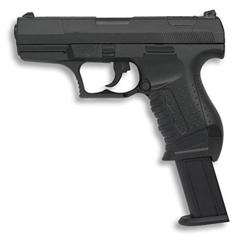 Pistola de Aire Suave 6 mm Albainox, Cuerpo de PVC, Accionamiento por Muelle,  0,5 julios. Peso 275 gramos, 31 m/s, 102 fps,38287