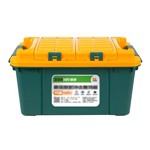 Coffre de Voiture Organisateur Boîte de Rangement pour Voiture Boîte de Rangement pour Voiture Queue Boîte de Rangement pour Voiture Boîte de Rangement (Color : Green-A, Size : 60 * 35 * 32CM)