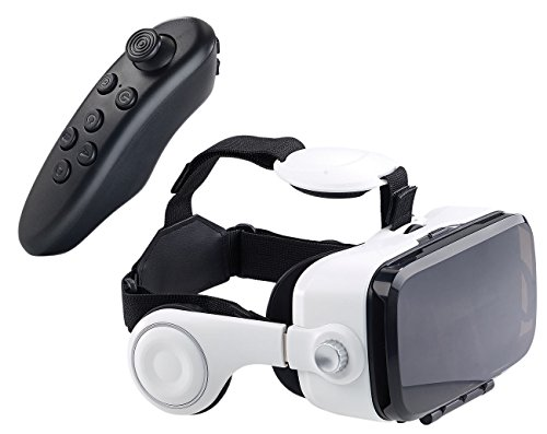 auvisio VR Brillen: Virtual-Reality-Brille mit Headset & Game-Controller im Set, Bluetooth...