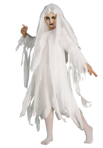 Kostüm Geist Geisterkostüm für Kinder Kostüm Horror Halloween Fasching Gr. L, M, ()