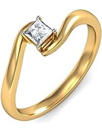 BlueStone Yellow Gold And Diamond Leon Clasp Ring
