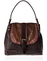 Taschendieb Td0121db, Bolsos maletín Mujer, Braun (Dunkelbraun), 11x25x28 cm (B x H T)