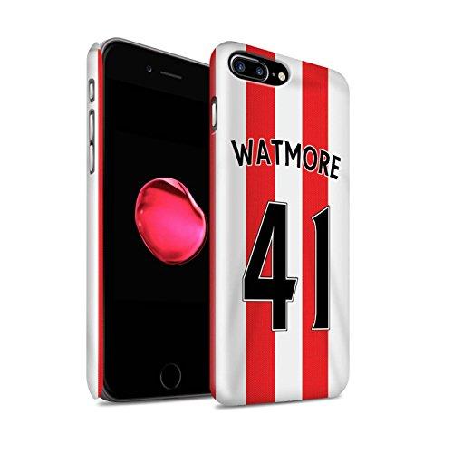 Officiel Sunderland AFC Coque / Clipser Brillant Etui pour Apple iPhone 7 Plus / Matthews Design / SAFC Maillot Domicile 15/16 Collection Watmore