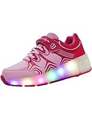 KIPTOP®-Zapatillas con ruedas led 5 colores deportivas carrefour para niños mujer hombre 2016