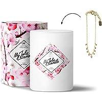 MY JOLIE CANDLE • Bougie Parfumée avec Bijou Surprise à l'Intérieur • Cadeau : Bracelet Or • Parfum Fleur de Cerisier • Edition Gold • Cire Naturelle 100% Végétale