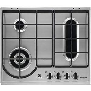 Electrolux EGH 6349 Box – Placa de cocción a gas con acabado inoxidable de 60 cm