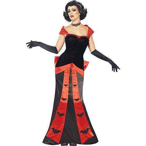 Damen Kostüm Hexe Glamour - Smiffys Halloween Damen Kostüm Glamour Vampirin Hexe Gr.L