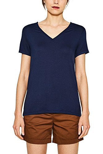 ESPRIT Collection Damen T-Shirt 077EO1K001 Blau (Navy 400), Small Preisvergleich