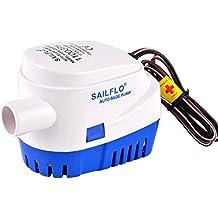 SAILFLO Bomba de achique automática 12V 1100GPH bomba de agua auto sumergible para barcos, bomba eléctrica para barcos accesorios marin