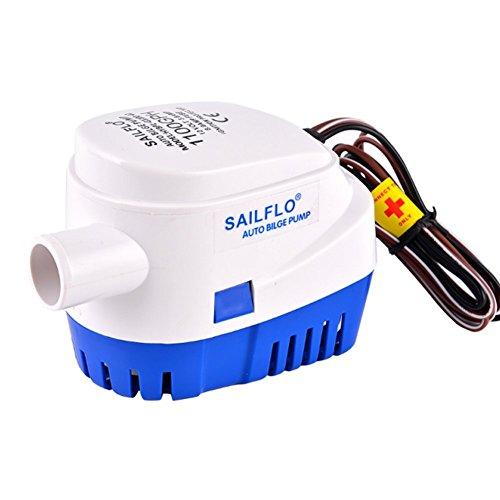 SAILFLO Bomba de achique automática 12V 1100GPH bomba de agua auto sumergible...