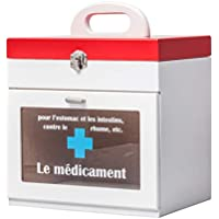 SLH Familien-hölzerner Medizin-Kasten-Erste-Hilfe-Kasten-Medizin-Aufbewahrungsbehälter preisvergleich bei billige-tabletten.eu