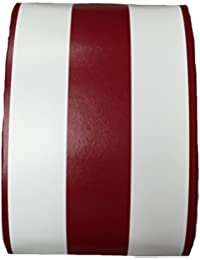 Red and White Stripes Leather Shell Shape Jewelry Gift Box