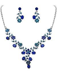 economico in vendita A basso prezzo scegli l'ultima Amazon.it: Collana blu bigiotteria - Cristallo / Donna: Gioielli