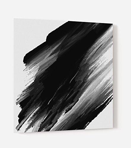 """Fond de hotte en panneau composite aluminium ou crédence de cuisine prête à poser avec adhésif double face """"Fond peinture noire"""" - L. 60 x H. 70 cm - Epaisseur 3 mm - [ Impression Murale® ]"""