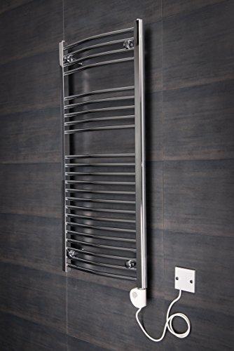Wärmehaus ® Sèche-serviettes électrique avec thermostat Vienna 348+250W - 1100 x 500...