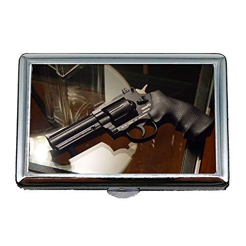 portasigarette, serratura a pistola, portasigarette, pistola, porta biglietti da visita in acciaio inossidabile