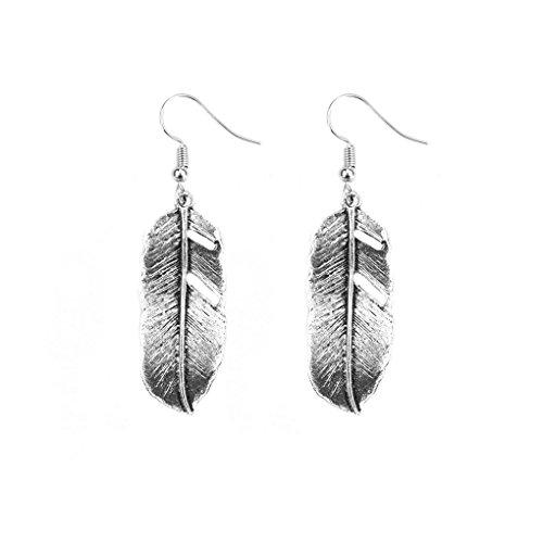 Bobury Frauen Legierungs Blatt Baum des Lebens baumeln Ohrring Bankett Partei Tropfen Ohrringe (Ohrring Frauen Für Bäume)