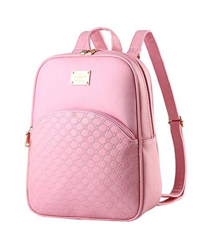 CHENGYANG Teenager-Mädchen Vintage Leicht Schultertasche Rucksack Für Chule Pink